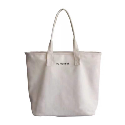 Korean version of the simple fashion canvas large capacity handbag