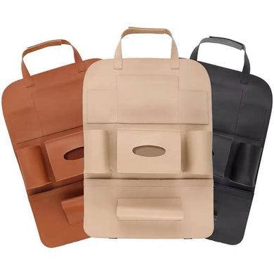High quality PU leather car back seat storage bag