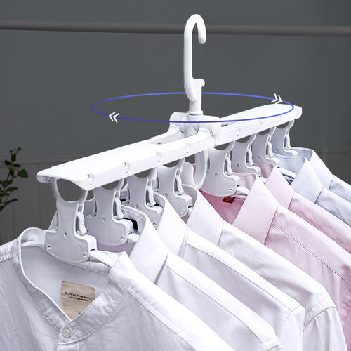 Multifunctional Magic Smart Hanger Storage Foldable Artifact Clothe Folding Rack