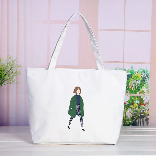 Korean wild canvas handbag