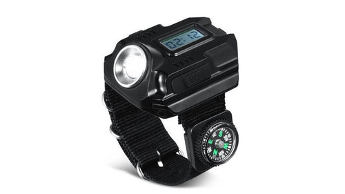 50% off Flashlight Compass Electronic Watch