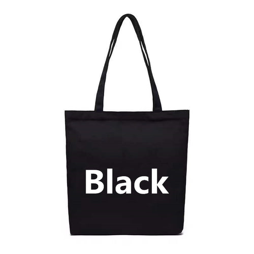 College style minimalist fashion canvas tote
