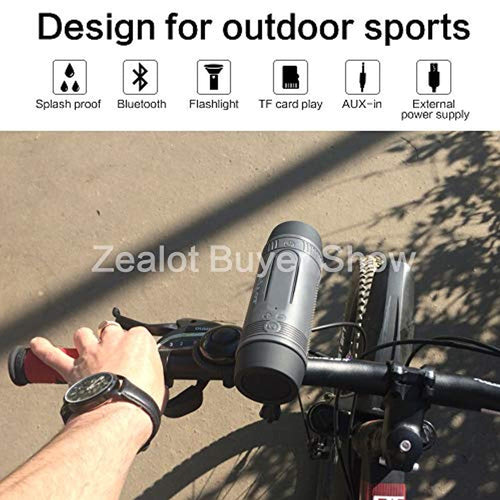 Outdoor Bluetooth Speaker Flashlight 4000mAh Power Bank