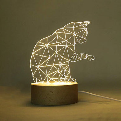 3D animal night light