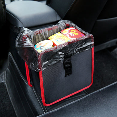 Multi-function car trash can