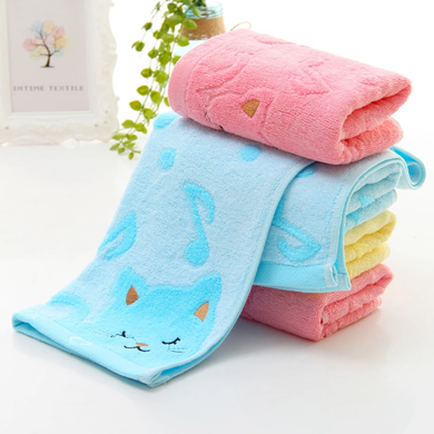 Absorbing Microfiber Home Cute Cat Child Bathing Shower Towel