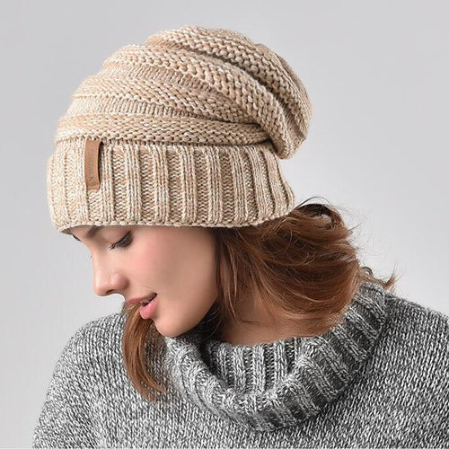 Winter knitted hat lady