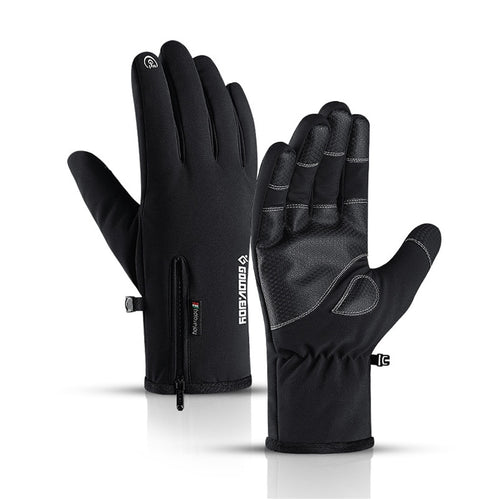 Waterproof gloves touch screen non-slip zipper gloves