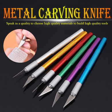2019 new metal handle blade scalpel knife paper cutter craft pen cutter accessories diy stationery utility knives