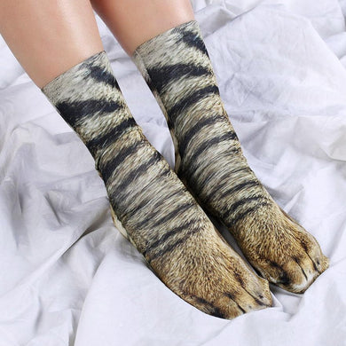 Animal Paw Print Crew Socks【40%OFF, buy more and send more】