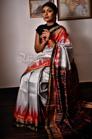 Pure Silk Ikkat Saree
