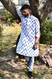 Handloom White Kurtas For Men
