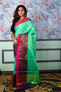 Sea Green Banaras Saree