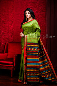 Green Dongria Saree