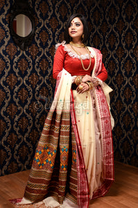 Dongria Saree in Palashboni Mode - Uttariya