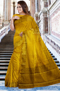Golden Banarasi Saree
