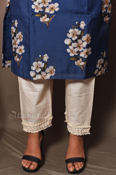 designer blue tunic set