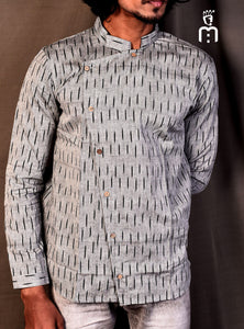 Gray Ikat Slim Fit Shirt