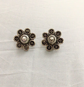 Round German silver Earring