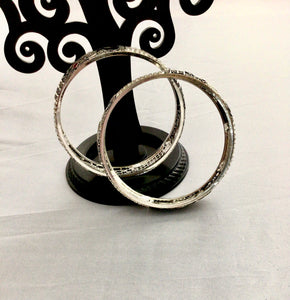 Peacock German silver bangle