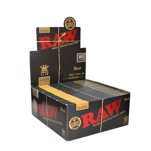 RAW Black Papers King Size Slim Feuilles RAW