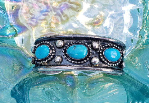 Native Pawn Turquoise Cuff Bracelet