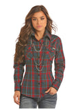 Panhandle Women's Holiday Flannel Button Up