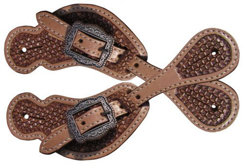 Youth Basketweave Spur Straps