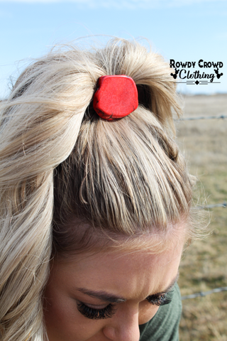 Red Rock Ponytail Holder