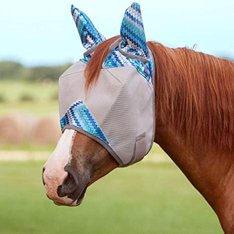 Cashel Crusader Blue Zig Fly Mask