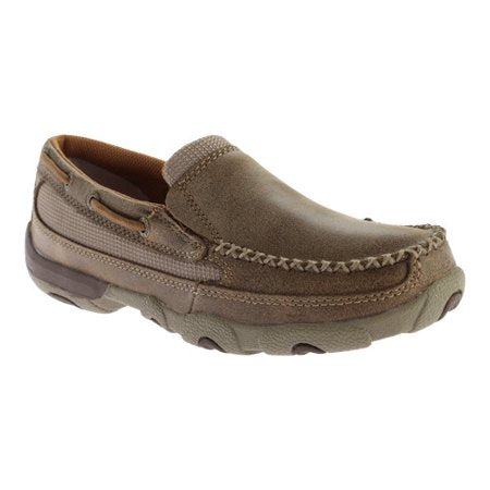 Women's Bomber Tan Slip On Moccasin