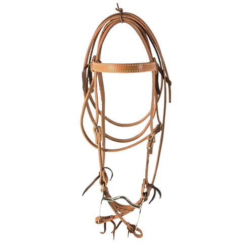 Leather Bridle – Pony with Curb Bit