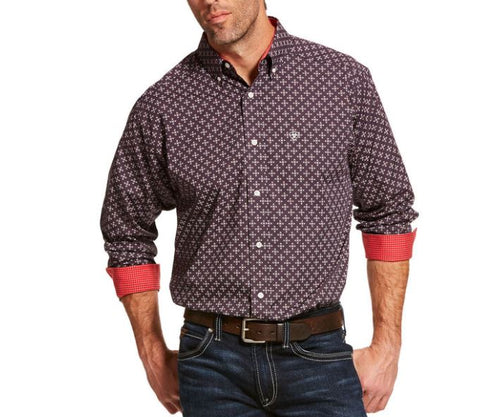 Men's Ariat Wrinkle Free Cleaves Classic Fit Shirt