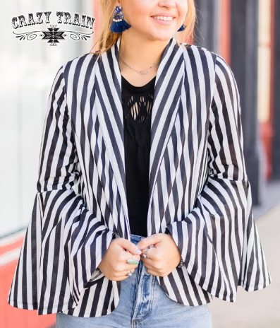Crazy Train Black/White Belmont Blazer