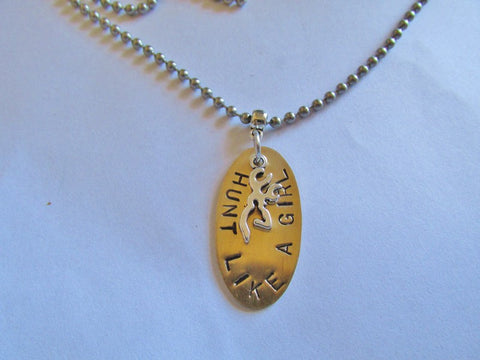 Ataggirl Hunt Like a Girl Necklace