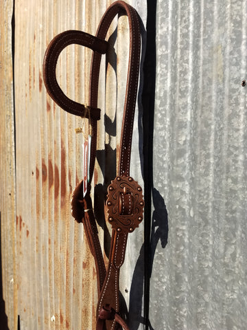 Martin Chocolate Copper Buckles One Ear Headstall
