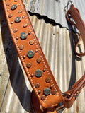 Martin Hexagon Copper & Turquoise Dots Natural Breastcollar