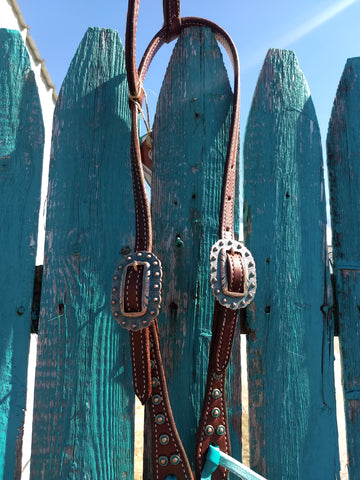 Martin Antique Turquoise Dots One Ear Headstall