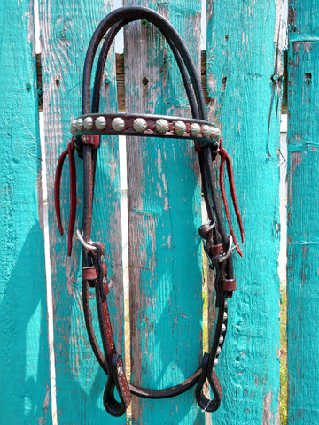 Turquoise Copper Spots Headstall
