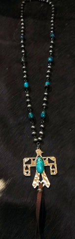Ataggirl Turquoise Thunderbird Necklace