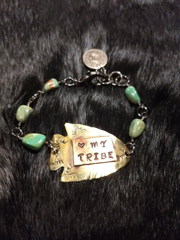 """Heart My Tribe"" Arrow Bracelet"