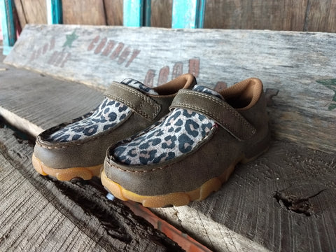 Twisted X Youth Leopard Driving Moccasins
