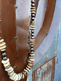 Ataggirl Brown Heishi on Leather Necklace