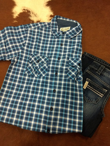 Boy's Plaid Button Up