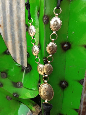 Nickle Silver Concho Necklace