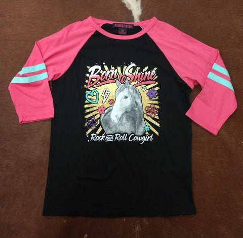 Rock & Roll Girl's 'Born to Shine' Horse Graphic Tee