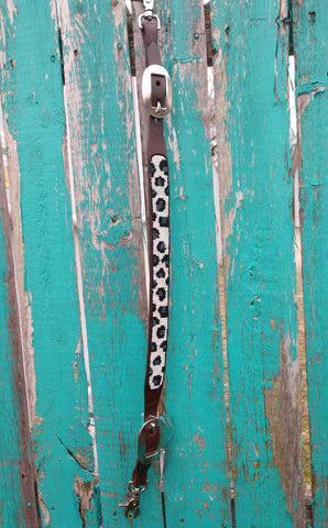 Cashel Beaded Cheetah Wither Strap