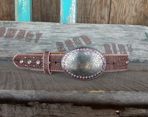 Girl's Pink Bling Belt