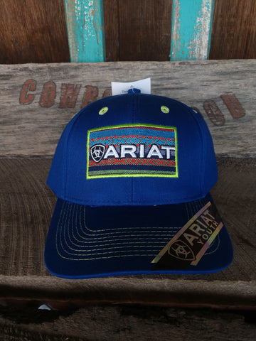 Ariat Youth Blue Patch Hat