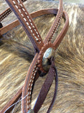 "HR 5/8"" Browband Barb Wire Headstall"